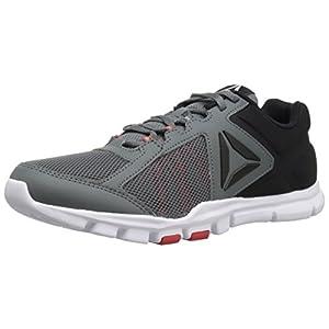 Reebok Men's Yourflex Train 9.0 MT Running Shoe, Alloy/Primal Red/Black/White, 10.5 M US