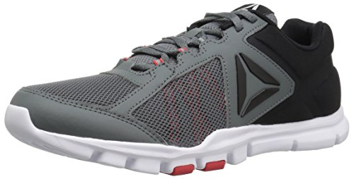 Reebok Men's Yourflex Train 9.0 MT Running Shoe, Alloy/Primal Red/Black/White, 10 M US from Reebok