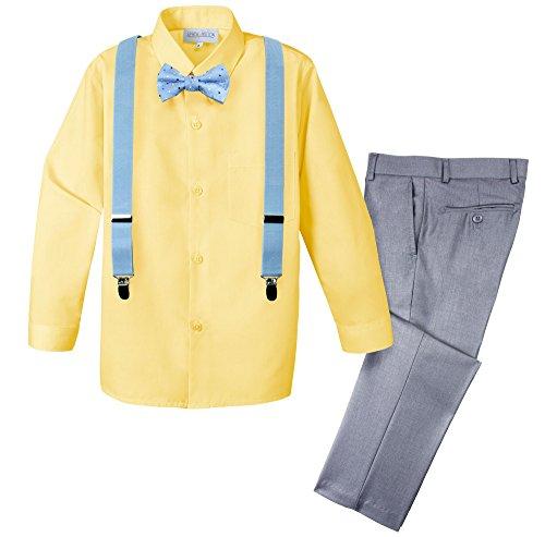 Spring Notion Boys' 4-Piece Dress up Pants Set 4T