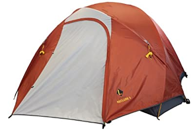 Ledge Sports Recluse Lightweight 3 Person Tent, Orange, 100 x 70-Inch