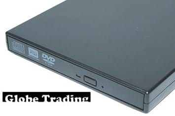 Globo Trading qubz CDROM personalizada con la definición grabadora de CDRW en color negro. Lectura