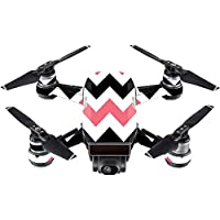 Skin For DJI Spark Mini Drone – Black Pink Chevron | MightySkins Protective, Durable, and Unique Vinyl Decal wrap cover | Easy To Apply, Remove, and Change Styles | Made in the USA