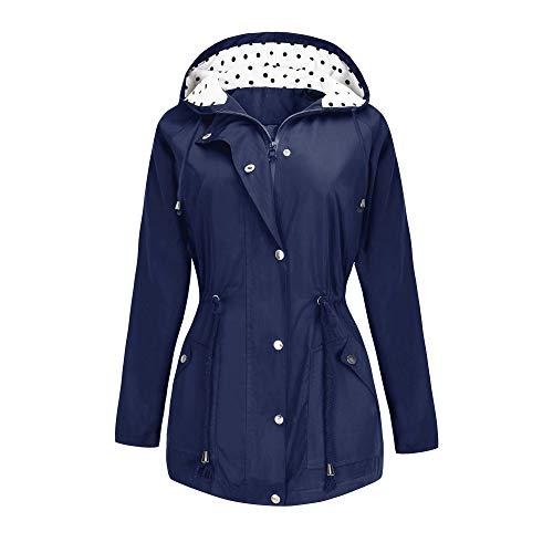 BBX Lephsnt Rain Jacket Waterproof Active Outdoor Hooded Women's Trench Coats