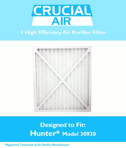 1 Hunter 30930 Air Purifier Filter; Fits Hunter Models: 30200, 30201, 30205, 30250, 30253, 30255, 30256, 30350, 30374, 30375, 30377, 30380, 30390, 37255 & 37375; Designed & Engineered by Crucial Air