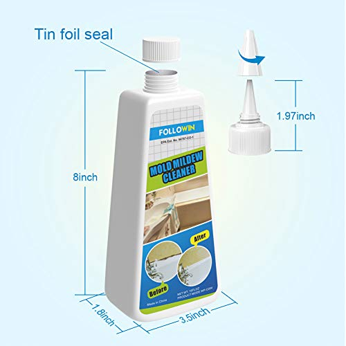 FOLLOWIN Mold & Mildew Remover Gel Miracle Household ...