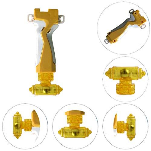 StormGyro Battling Battle String Launcher Grip & Weight Damper Set(Gold) (Launcher Beyblade Yellow)