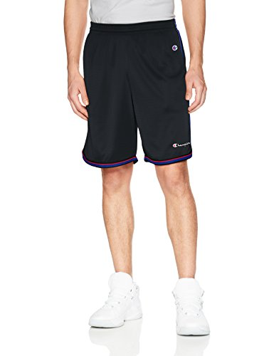 Champion Men's Core Basketball Short, Black, L (Mesh Shorts Basketball Striped)
