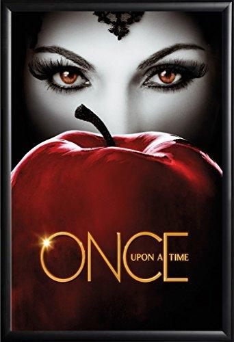 Framed Once Upon A Time - Evil Queen 22x34 TV Show Poster in Matte Black Finish Wood Frame Lana -