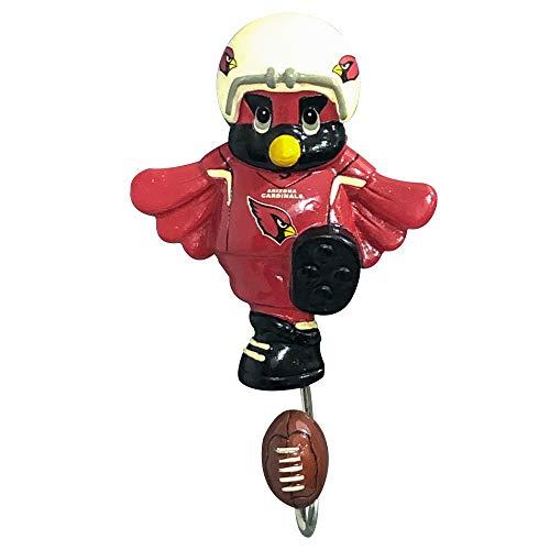 - SC Sports Arizona Cardinals NFL Mascot Wall Hook Coat Hanging Rack Bathroom Bedroom Towel Decorative Mounted Hooks Hangers Collectible