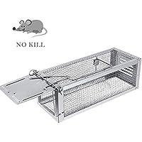 RatzFatz Trampa de Ratones Profesional, Jaula de Alto Grado Para Atrapar Ratones, Ratas y Otros Animales Pequeños Sin Matarlos, Humanitario y Reutilizable - 31.5 x 13 x 13cm