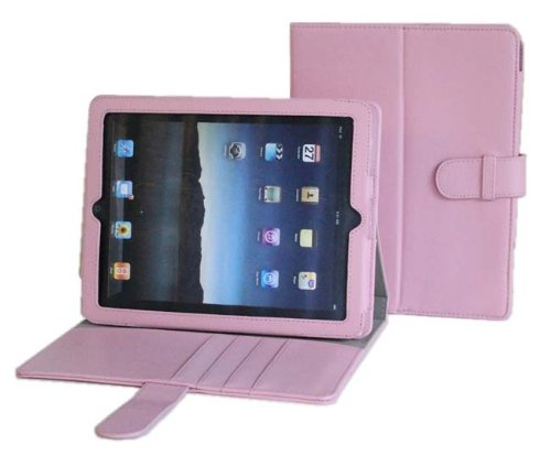 Apple iPad PU Leather Portfolio / Adjustable Stand Combo Carrying Case for Apple iPad 3G Wifi 16GB 32GB 64GB made by Gilsson (Pink) SPECIAL HOLIDAY PROMO PRICE. Guaranteed The Best Case for Your iPad!