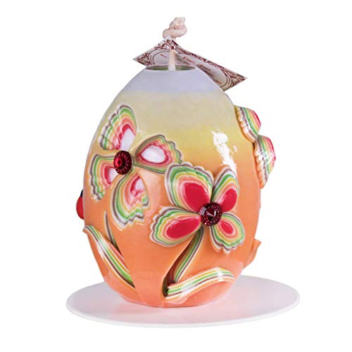 Mesmerizing Hand Carved Candle Easter Egg - Perfect Birthday Wedding Gift Idea For Her Girlfriend Wife - Home Bedroom Love Nest Décor With Breath Of Summer - 100% Handmade