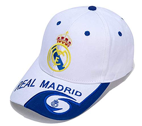 FOOT-ACC Real Madrid Soccer Cap Hat - Embroidered Authentic Caps White Fans Baseball Cap