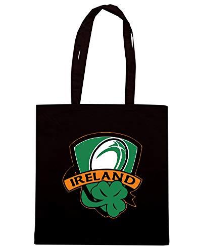 IRELAND Speed Borsa TRUG0132 Shopper RUGBY SHAMROCK Nera Shirt z8Uw4