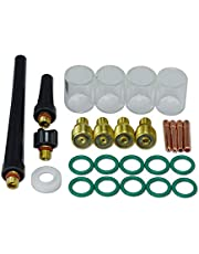 TIG Gas Lens Collet Body Pyrex Cup Kit for DB SR WP 9 20 25 TIG Welding Torch 26pcs