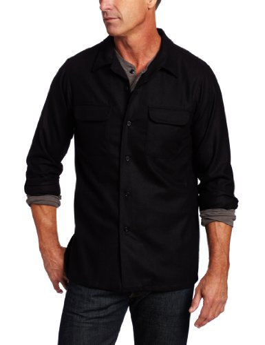 Pendleton Men's Long Sleeve Fitted Board Shirt, Black, Large