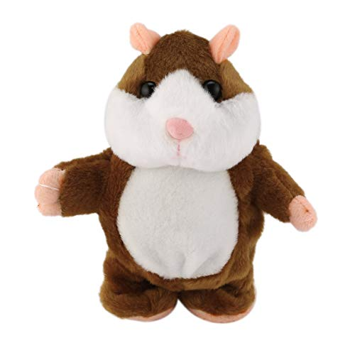 Price comparison product image Detectoy Lovely Cute Funny Walking Talking Speaking Nodding Music Hamster Plush Toy Hamster Animal Children Kids Educational Toy