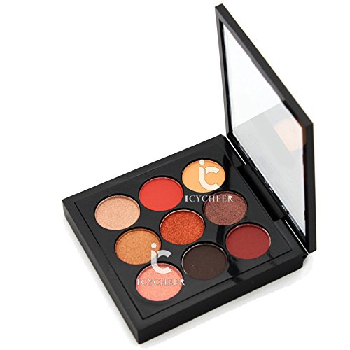 Beauty Makeup 9 Colors Smokey Eye Shadow Orange Nude Eyeshad