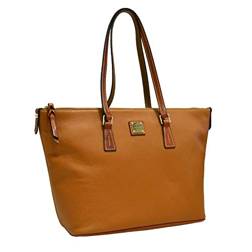 Dooney & Bourke Zip Top Shopper Tote (Caramel) ()