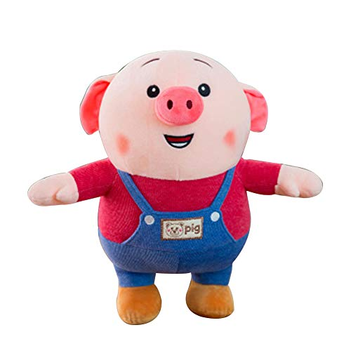 - loinhgeo- Portable Training Toy 2019 Chinese New Year Mascot Cartoon Pig Plush Doll Pillow Kids Toy Home Decor - Red 45cm