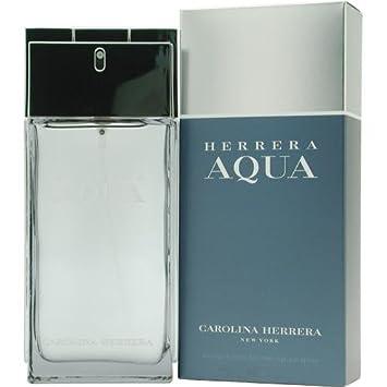 Amazon.com : Herrera Aqua ~ Carolina Herrera 3.4 oz Men Eau de Toilette Spray : Beauty