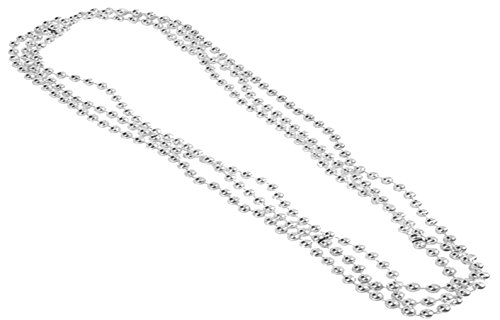 Play Kreative Metallic Bead Necklaces -12 pk TM (Silver)