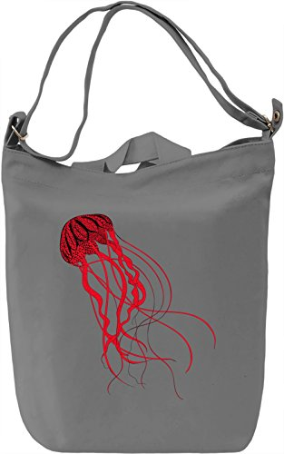 Jellyfish Borsa Giornaliera Canvas Canvas Day Bag| 100% Premium Cotton Canvas| DTG Printing|