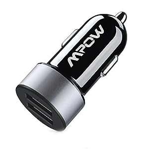 Mpow® Cargador de Coche universal, Doble USB con 5.2A/26W de Carga rápida, Pequeño pero poderoso para el iPhone 6 6 Plus 5 5S 5c 4 4S, Samsung Galaxy S4 S3, Note 3 2, iPad Air mini, iPod, Nexus 4, LG G2, Moto, HTC y otros dispositivo de electrónicos