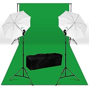 Bps 250w Kit Iluminaci 243 N Fotograf 237 A 3x6m Fondo Verde 100