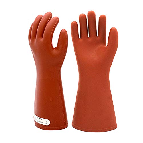 Electrical Insulated Rubber Gloves Electrician 12KV High Voltage Safety Protective Work Gloves Insulating for Lineman Man Woman
