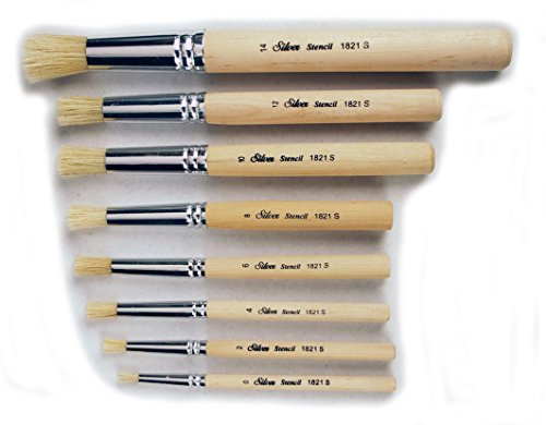 silver-brush-limited-si-1808s-8-piece-silver-stencil-brush-set