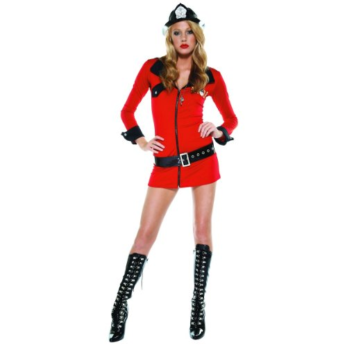 Crew Chief Costume (Fiesty Firegirl Costume - Medium/Large - Dress Size 6-9)