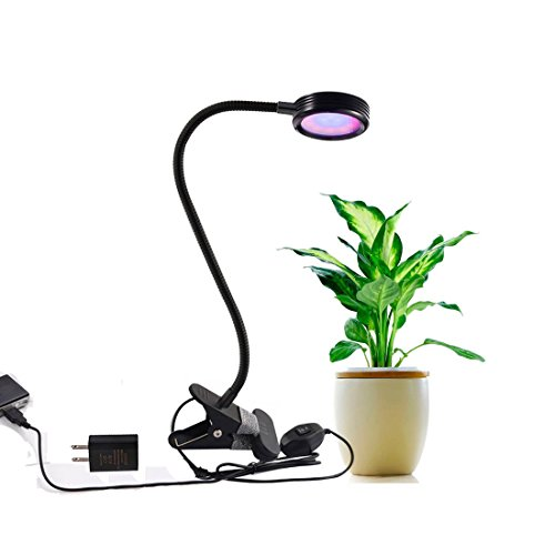 LED Grow Light Bulb Prodeli 360 Degree Adjustable 8W Red and Blue Full Spectrum LED Grow Plant Spot Lights with 2 Level Dimmable Clip LED Grow Lamp for Indoor Plants Hydroponic Garden Greenhouse