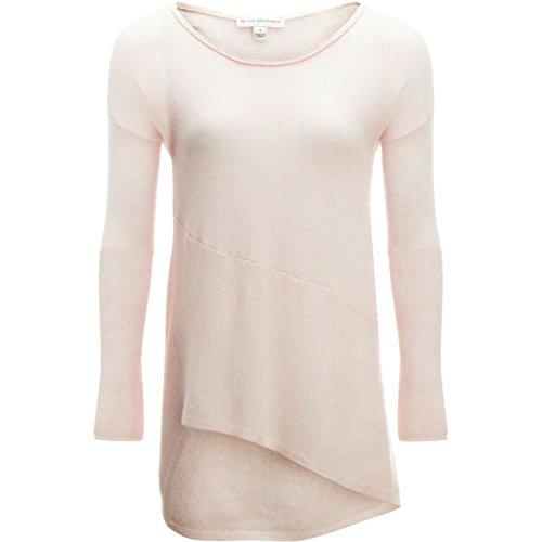 White + Warren Hi Lo Asymmetrical Pullover Sweater - Women's Havana Pink, XS