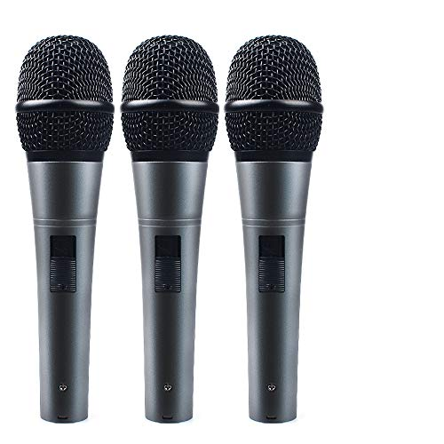 - Professional Dynamic Cardioid Vocal Wired Microphone with XLR Cable (19ft XLR-to-1/4 Cable), MAONO-K04 Metal Cord Mic Plug and Play for Stage, Performance, Karaoke, Public Speaking,Home KTV(3 Pack)
