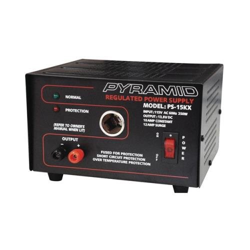 Pyramid Pyle Ps15kx Power Supply 12 Amp With Cigar Plug by Pyramid