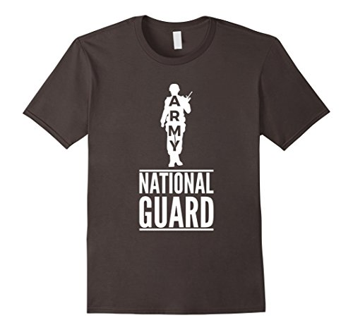 Mens Army National Guard T-Shirt Military Birthday Gift Tee 2XL Asphalt Mens National Guard