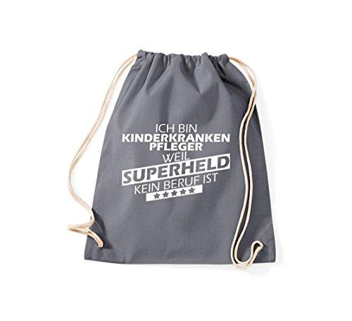 Shirtstown - Bolso de tela de algodón para mujer gris