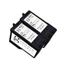 Sophia Global Remanufactured Ink Cartridge Replacement for Lexmark 33 (2 Color)