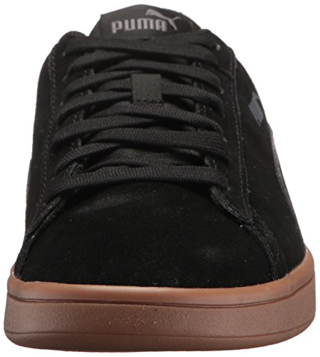 PUMA Mens Smash v2 Sneaker, Black Black, 10.5 M US