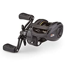 The Abu Garcia Pro Max Low-Profile reel features a lightweight and compact design, thanks it its one-piece graphite frame. The machined double-anodized aluminum spool provides added strength without adding excess wright. A Power Disk drag sys...