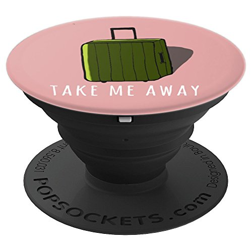 Take Me Away Travel Carry-On Green Rolling Suitcase - PopSockets Grip and Stand for Phones and Tablets