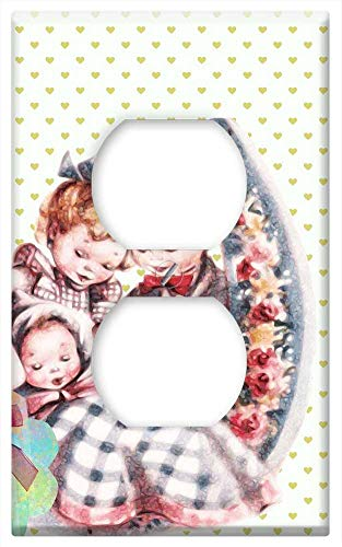 Switch Plate Outlet Cover - Ornamental Family Parents Children Baby Son Union