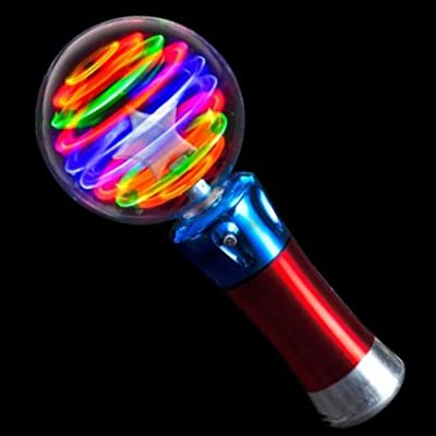 Light Up USA (TM) Flashing Light Up LED Spinning Ball Wand: Toys & Games [5Bkhe0501053]