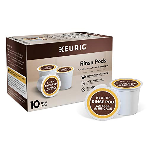 Keurig 5000057588 Rinse Brews in Both Classic 1.0 and Plus 2.0 Series K-Cup Pod Coffee Makers, 10 Count, - Cleansing Accessories
