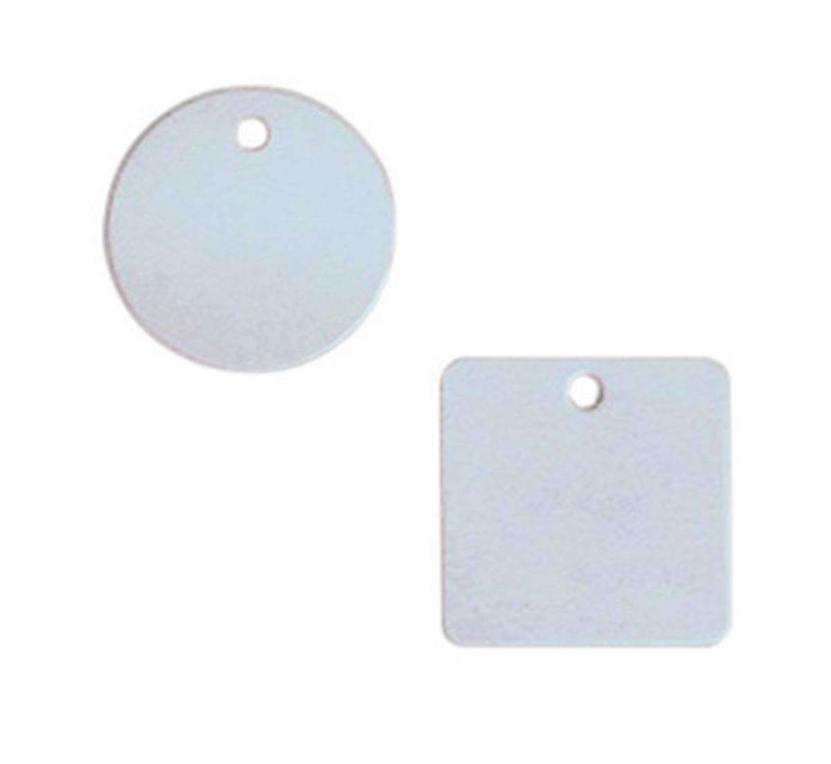 Accuform Signs 2'' White And Gray 18 Gauge Aluminum Circle Blank Tag With 3/16'' Hole (25 Per Pack)
