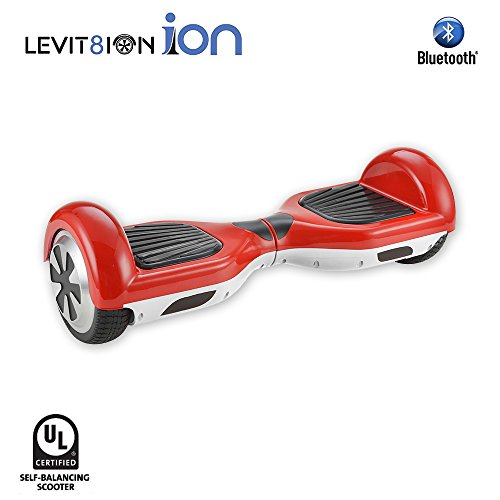 LEVIT8ION ION 6.5' Hoverboard - Self Balancing Scooter 2 Wheel Electric Scooter - UL Certified 2272 With Bluetooth And LED Lights (Red & White)