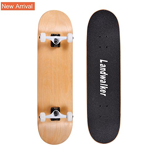 Landwalker Pro Cruiser Complete Girl Skateboard 31x8 Inch Skateboards cheap skateboard(Natural)