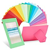 50 Pack Colored Paper Picture Frames, 4x6 Photo