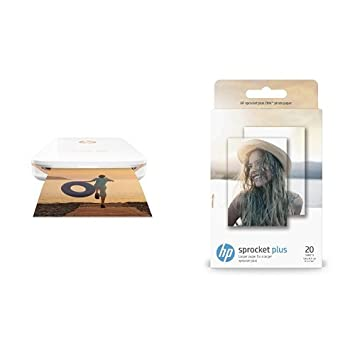 hp sprocket plus photo printer white hp 2 3 x 3 4 inches